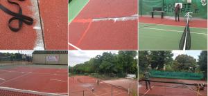 réparation de court de tennis