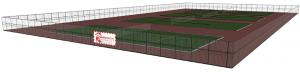 Construction d'un court de tennis