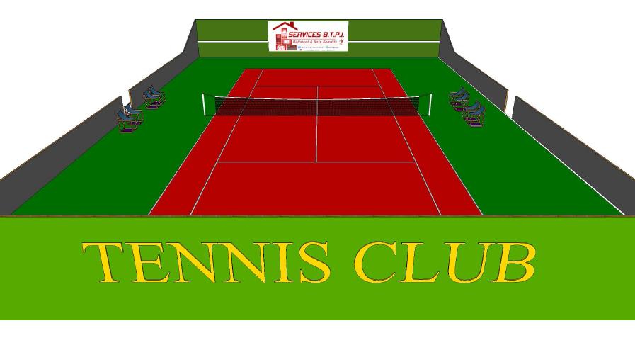 Constructeur de terrain de tennis en b ton poreux for Taille d un terrain de tennis