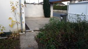 garage avant le carrelage