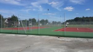 Peinture de  2 court de tennis