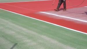 Application de peinture tennis