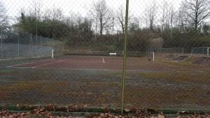 Tennis avant nettoyage démoussage