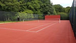 Peinture de court de tennis
