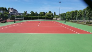 Court de tennis régénéré