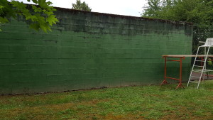 Mur d'entrainement sans enduits