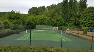 Tennis après travaux de régénérations
