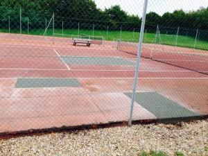 Réparation de béton de court de tennis
