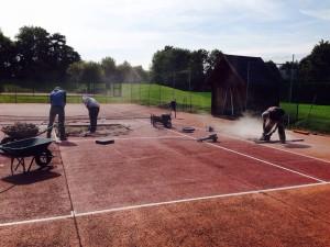 Réparation de terrain de tennis