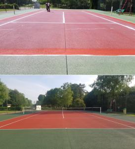 avant aprés tennis peinture