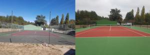 avant aprés rénovation tennis
