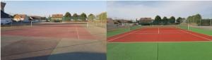 Avant et Aprés un terrain de tennis