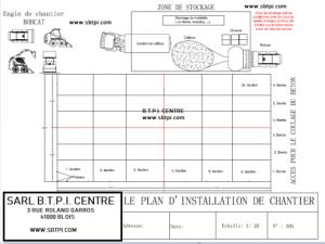 plans d'installation de chantier