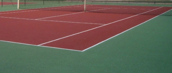 Construction et r novation de court de tennis en b ton for Surface d un terrain de tennis