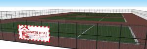 Construction et rénovation de court de tennis béton poreux