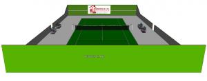 Construction de terrain de tennis