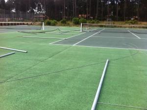 poteaux de clôture de tennis
