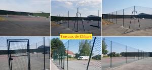 Clôture terrain de tennis