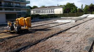 Construction de Tennis sur un parking sousterrain