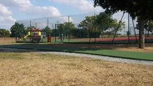 Rénovation d'un court de tennis