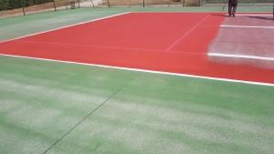 Peinture de court de tennis en béton poreu