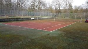 Tennis avant nettoyage