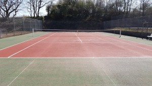 Tennis après nettoyage