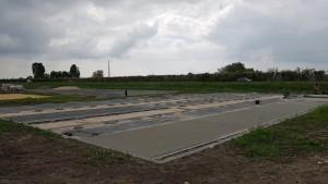 Dallage en béton poreux terrain de tennis