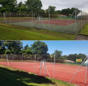 avant aprés régénération tennis