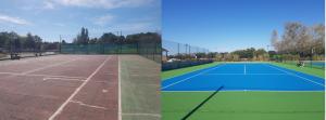 avant aprés peinture tennis