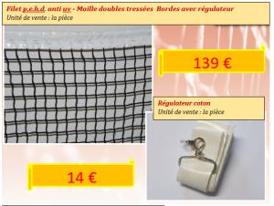 Filet de tennis double maille