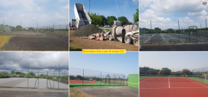 Rénovation d'un court de tennis 37 mairie